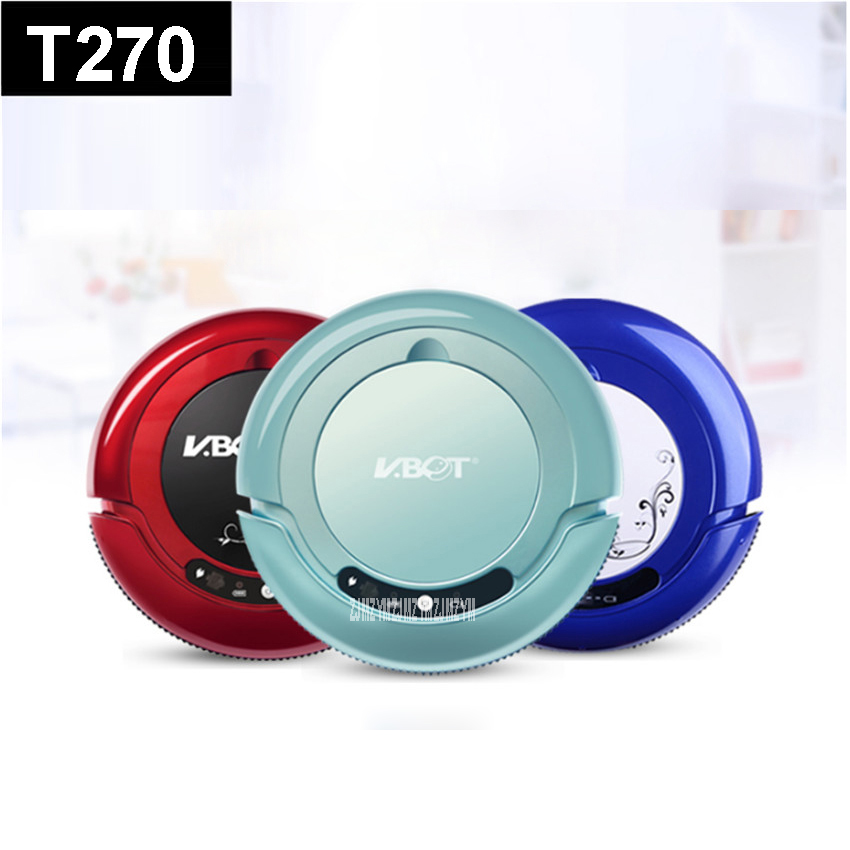 T270 110-220V Mini Robot Vacuum Cleaner for Home Automatic Sweeping Dust Sterilize Smart Planned Mobile App 800mah Battery купить