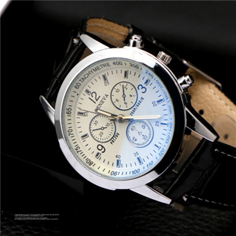 Fashion Top Brand Luxury Casual Watch Leather Quartz Luminous Men Watch Blue Ray Business Wristwatch Rlogio Masculino