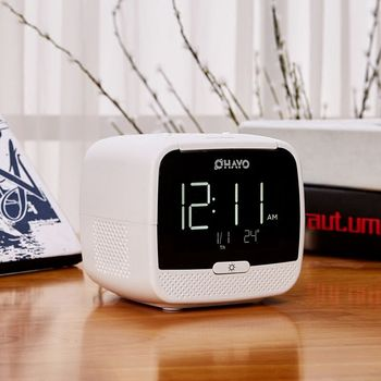 input function Backlight Watch Home Furnishing Articles Led Alarm Clock with Bluetooth FM Radio USB powered AUX
