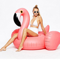 Rose Gold Inflatable Flamingo Pool Float Ride on Swimming Float Swimming Ring Flamingo Boia Piscina Pool Party Toys