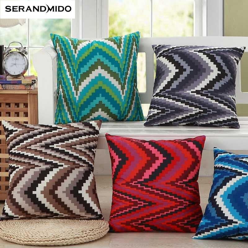 NºDecoración cojín geométrico Simple algodón de lino almohadilla