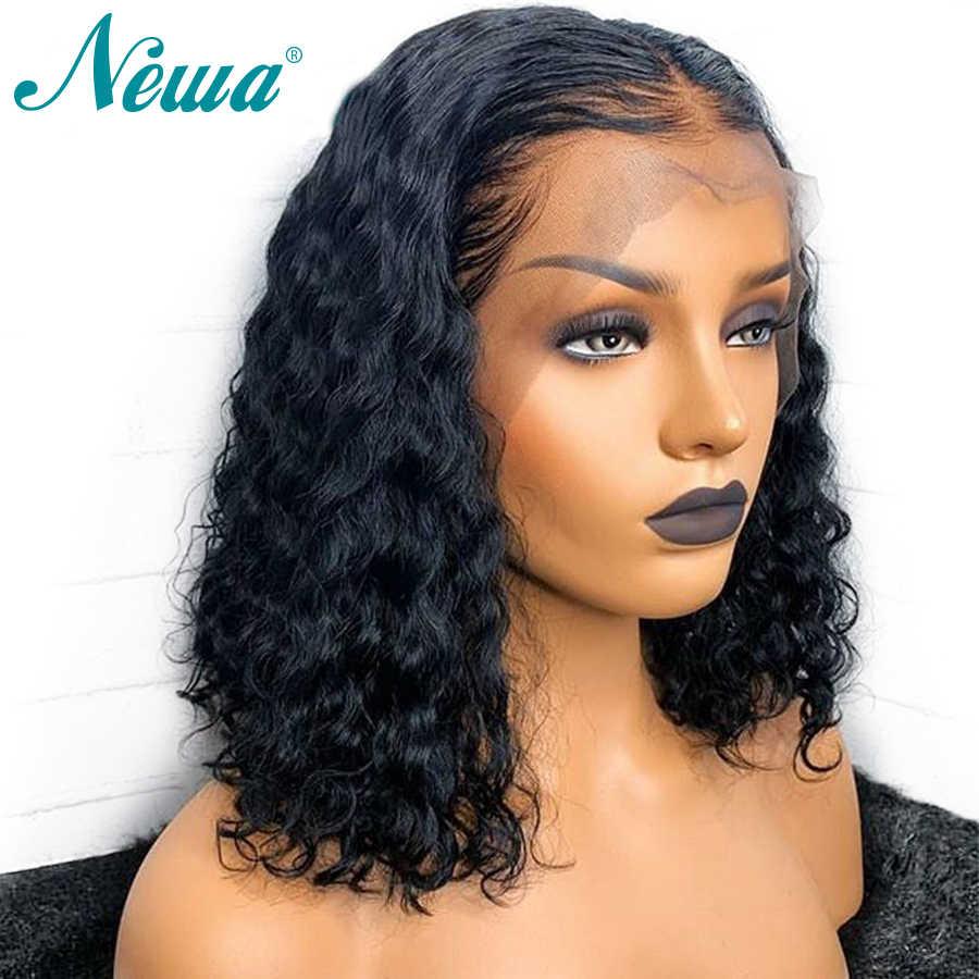 360 волосы на шнурках спереди al парик предварительно сорвал с волосами младенца кудрявые короткие кружевные передние человеческие волосы боб парики для женщин бразильские волосы remy NYUWA