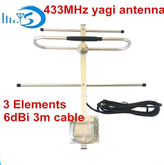 OSHINVOY 433 Mt yagi-antenne 3 elemente UHF 400-470 Mt radio repeater yagi-antenne UHF 435 Mt yagi antenne 3 elemente UHF yagi-antenne
