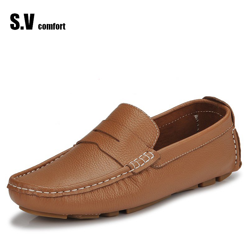 Leather Men Shoes Moccasin Casual Men Shoe Sapatos Schoenen Breathable Summer Shoes Loafers Masculinos Zapatos Hombre SV Comfort