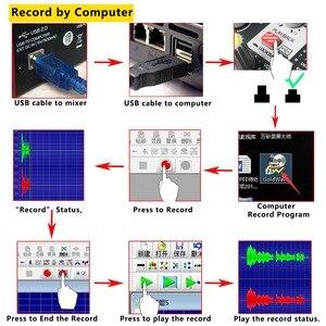 Image 5 - Freeboss UM 66 4 ערוצים 16 אפקטים דיגיטליים 24 קצת Dsp מעבד כרטיס קול (אולם חדר צלחת עיכוב הד) להקליט אודיו מיקסר