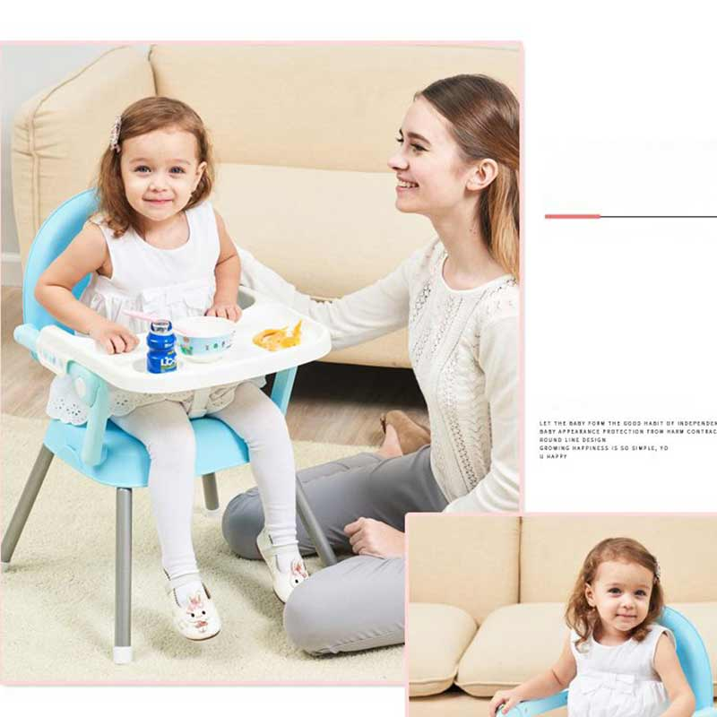Kids Chair Furniture Baby Seat Dinner New Free Shipping Portable Table Multifunction Adjustable Folding Chair For Children Bebe