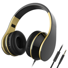 Stereo Audio Headphones Portable 3.5mm Jack Headset with w/Microphone, Noise Cancelling Sport Gaming Earphone for Phone PC MP3/4