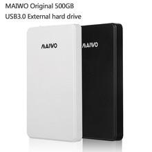 Бесплатная доставка MAIWO Оригинальный Портативный HDD USB3.0 Хранения Внешний жесткий диск 500 ГБ Настольных и Портативных Подключи и Играй Лучше цена