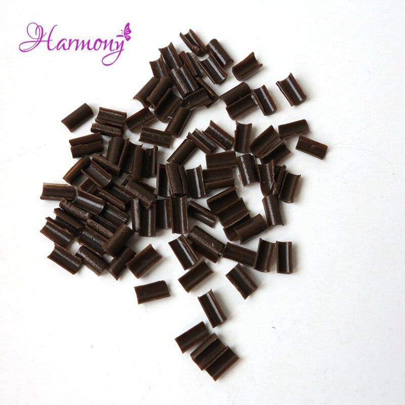 Free shipping 200pcs Nail Tip Keratin Glue Transparent Color U Tip Hair keratin nail tip glue for Hot Fusion Pre Bonded Hair
