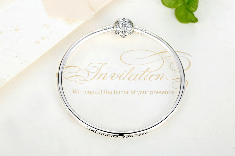 Pulseira 925 Sterling Silver Bracelet Femme Snowflake Heart Blue Eye Femme Snake Chain Bracelets & Bangles Women Jewelry 3