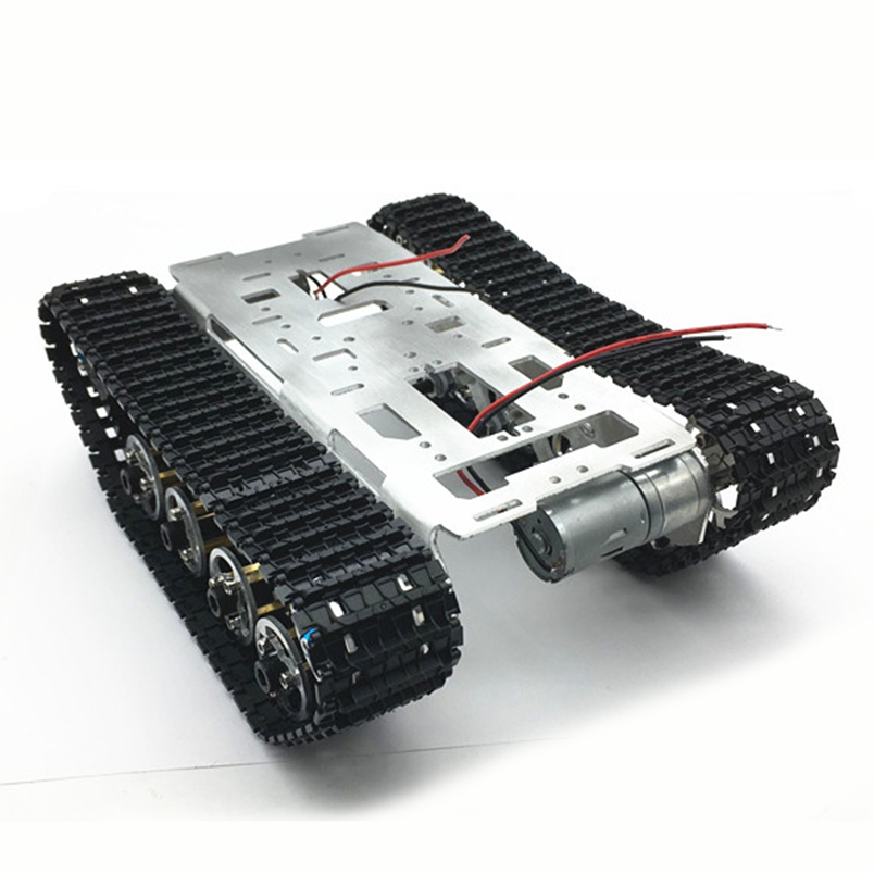 Aluminum Alloy Smart Robot Car Chassis Big Tank Chassis with Motors for DIY Remote Control Robot Car Toys Spare Parts big motors машина police car