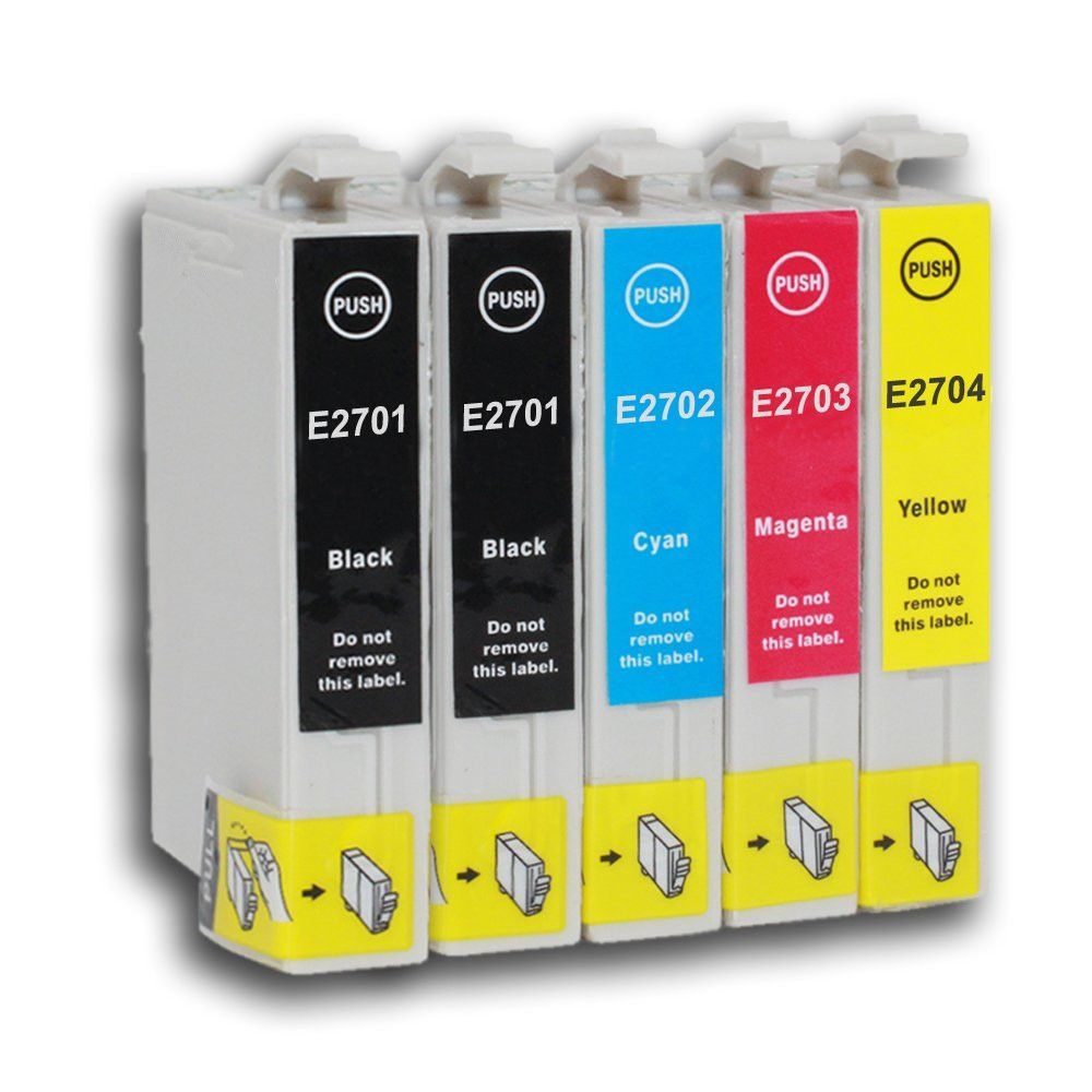 5 Ink Cartridge for T2701 T2702 T2703 T2704 T2705 27 NOT original Epson