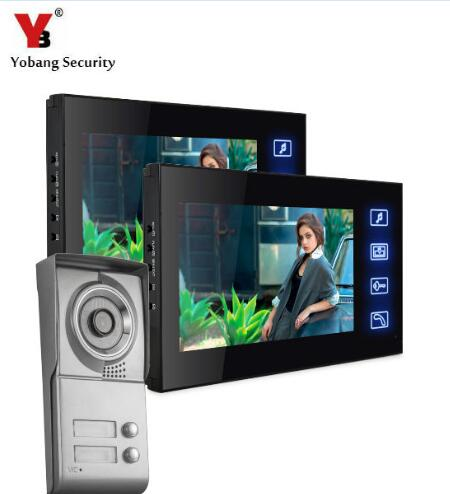 YobangSecurity 7 Inch Video Door Phone Doorbell Home Entry Intercom System KIT With Video Recording And Photo Taking Function