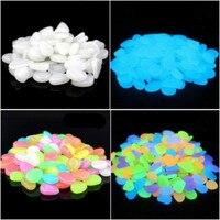 100 шт./упак. разных цветов Пластиковые светящийся камень в ночное время для аквариума дорога тропинка игрушка