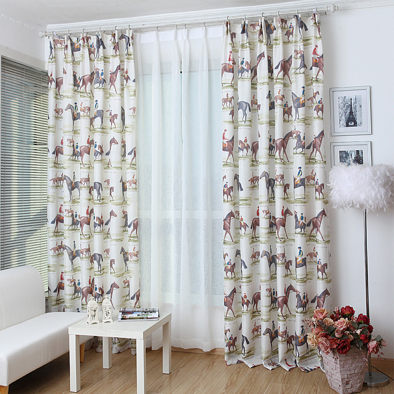 Semi Custom Drapes: Horse Curtains For Bedroom