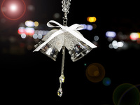DEDC Campanula Adornos de Navidad de Cristal Colgante de Coche Seguro y Lucky Regalo De Navidad Campana