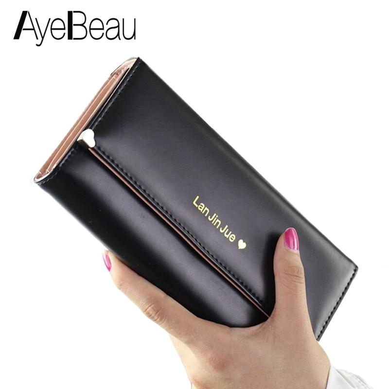 Clutch Long Lady Wallet Female Women Purse Card Holder Money Bag Walet For Cuzdan Vallet Phone Kashelek Klachi Partmone Portmann