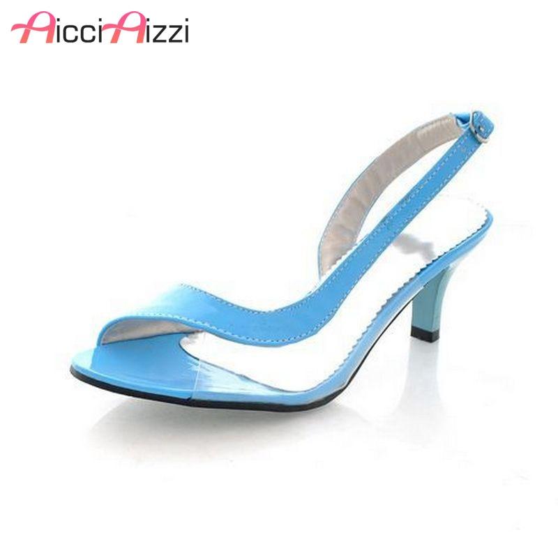 Size 30-46 Women Peep Toe High Heel Sandals Sexy Ladies Brand Fashion See Through Heels Sandalias Shoes Woman Footwear PA00288 недорго, оригинальная цена