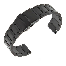 fast delivery Black Stainless Steel Watch Band Strap Mens Straps Metal Bracelet 18mm 20mm 22mm 24mm