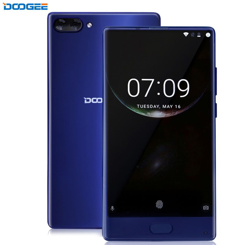 4G Original DOOGEE MIX 6GB+64GB Dtouch Fingerprint Dual Back Camera 5.5'' AMOLED Screen Android 7.0 Octa Core 2.5Ghz Cellphone