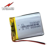 цена на 4pcs/lot 703040 3.7V 800mah Rechargeable Batteries Polymer Lithium Li-ion Battery For Digital Products