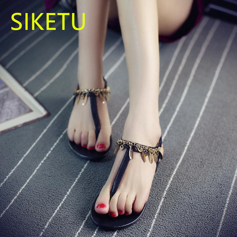 SIKETU Free shipping Summer sandals Fashion casual shoes sex women shoes flip flop Flat shoes Flats l048 NEW Bohemia Beach free shipping fashion 2018 new summer women shoes casual sandals genuine leather flats sandals beach slippers soft comfortable