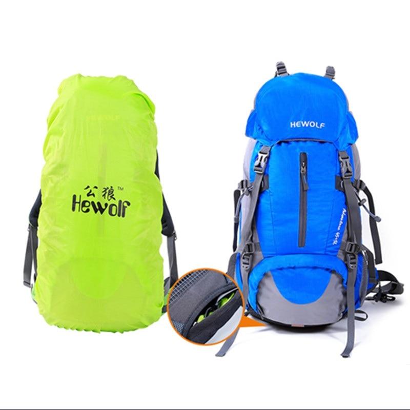 Hewolf сумка для скалолазания Hewolf на открытом воздухе 45л + 5л походный рюкзак, рюкзак для активного отдыха, спорта, походов, кемпинга, рыбалки, путешествий, дождевик - 4