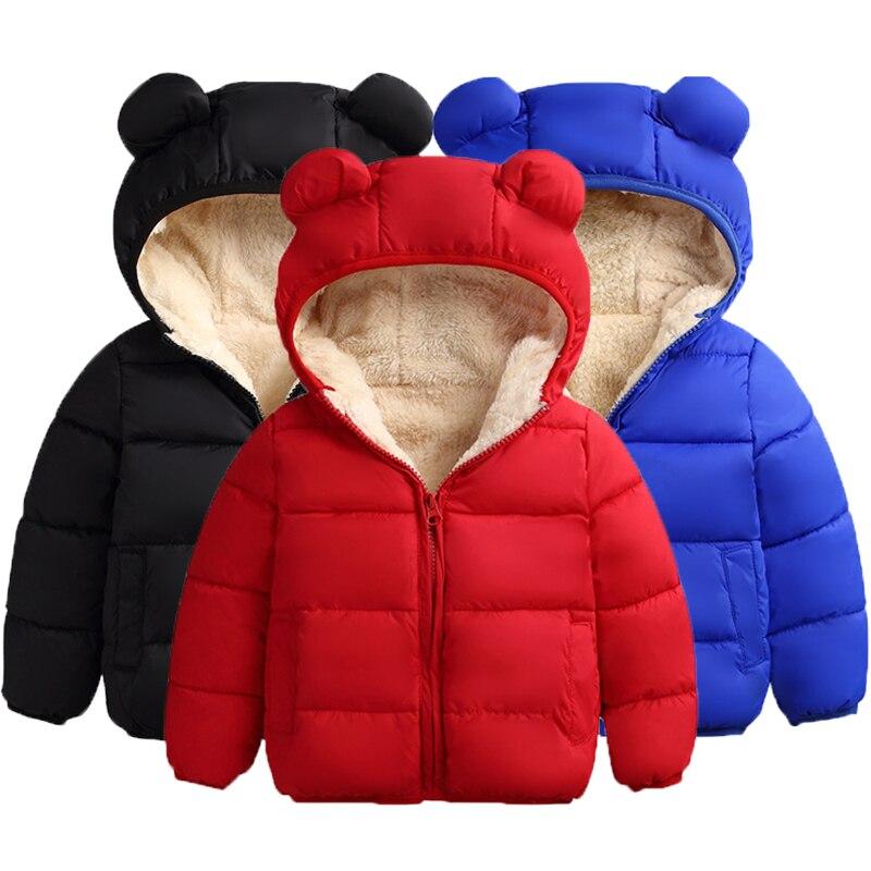 Kids Parkas Autumn Winter Down Jackets Parkas Kids Warm Hooded Outerwear Coats Boys Parkas Children Clothes