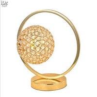 Basit modern dim ışıkları kristal altın lamba başucu Yaratıcı Sanatlar yatak oturma odası Masa Lambaları OLU-0054