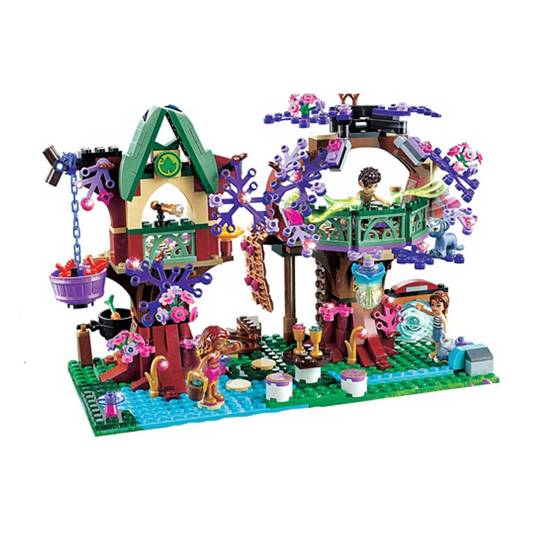 органайзер для проводов hideaway средний белый коричневый 1228054 Lepin 41075 Bela 10414 Pogo Aiboully Elves Treetop Hideaway Emily Jones Models Building Blocks Bricks Compatible Legoe Toys