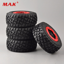 30005 4Pcs/Set Truck Bead-Lock Tire and Wheel Rims with 12mm Hex fit 1:10 Scale  RC Short Course Car Parts 4pcs set truck bead lock tire wheel rims for traxxas slash rc 1 10 short course car parts 30005