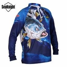SeaKnight abbigliamento da pesca SK004 manica lunga L XL XXL XXXL XXXXL t shirt estiva Anti UV traspirante ad asciugatura rapida