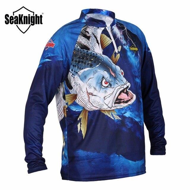 Seaknight Vissen Kleding SK004 Lange Mouwen L Xl Xxl Xxxl Xxxxl Zomer Sneldrogende Ademend Anti Uv Zon Bescherming T shirt