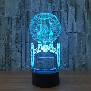 Image 5 - 3dスター · ウォーズ図7色ledナイトランプ子供のためのタッチled usbテーブルランパラランペベビー睡眠常夜灯ドロップ船