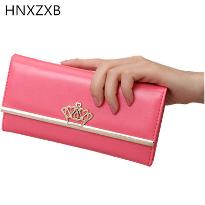 HNXZXB Women Bow Wallet Long Solid Simple Hasp Women Purse Brand Female Wallet Clutch Lady Fashion Evening Bag Clutches yuanyu free shipping 2017 hot new women bag real women clutches pearl fish skin wallet long fashion leisure women wallet purse