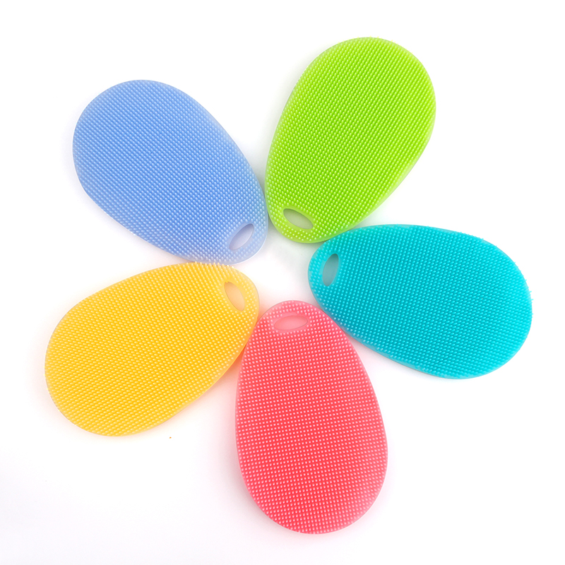 kitchen accessories Multifunction Bowl Cleaning Brush Silicone Bowl Dish Cleaning Brushes Household Kitchen Pot Pan Washing Tool