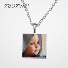 ФОТО zbozwei personalized photo pendants custom necklace photo of  baby child mom dad grandparent loved one gift  family member gift