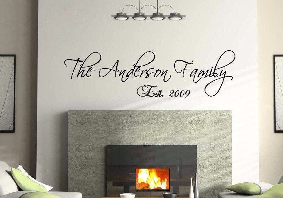 d0069 personalized custom family name wall decal vinyl lettering quote scriptina decal stickerchina
