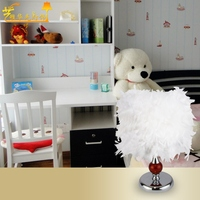 Hot sale spot Touch dimmer room lamp manufacturers selling wedding feather personality study table lamp