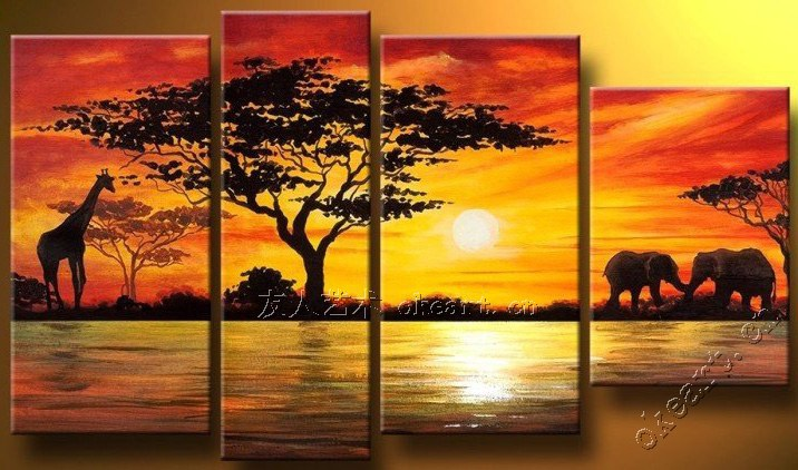 A Harmonious World At Sunrise In Pure Hand Painted Oil Painting Without  Frame Decorative The Living Room Fortune Tree Landscape Part 70