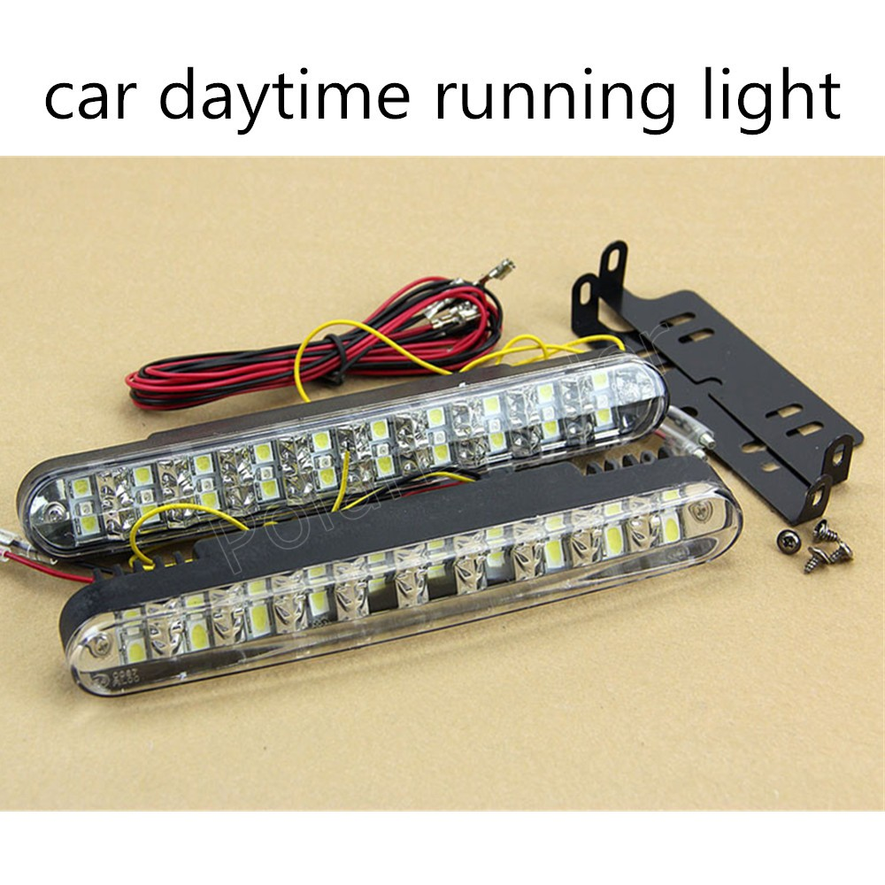 Best Selling 2 Pieces 12V 15W Auto Running Lights Car Styling 30 LED High Power