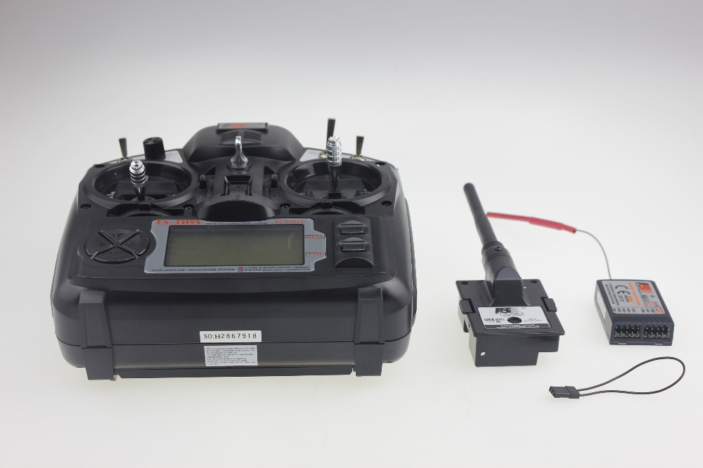 Flysky 2.4G 9ch FS FS-TH9X Transmitter & Receiver Combo TX RX Control System For RC Helicopter Airplane F02146 flysky 2 4g 6ch channel fs t6 transmitter receiver radio system remote controller mode1 2 lcd w rx rc helicopter multirotor