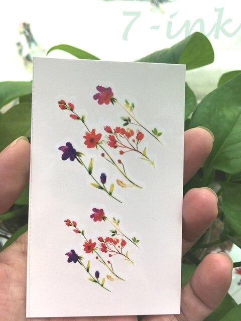 Transfert De L Eau De Tatouage Belle Couleur Vent Fleur Plume Tatoo