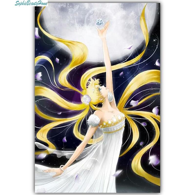Sophie skönhetshus Crystal Mosaic Needlework 5D Diy Måla Diamond - Konst, hantverk och sömnad