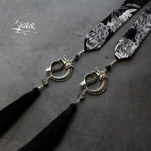 Image 3 - Nhạt mực Diablo Độc Đoán Kirin in hình để đặt lên trán phàn Thành tua rua nam trán Hanfu tua rua tóc