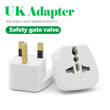 1 pc ユニバーサル eu 、米国、 au 英国変換プラグ 2 ピンソケット eu イギリスへ旅行充電アダプター電子充電