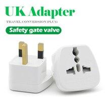 1 шт., Универсальный Переходник из ЕС, США, Австралии в Великобритания, 2 контактный разъем, переходник для зарядного устройства для путешествий в английском стиле, для электронной зарядки