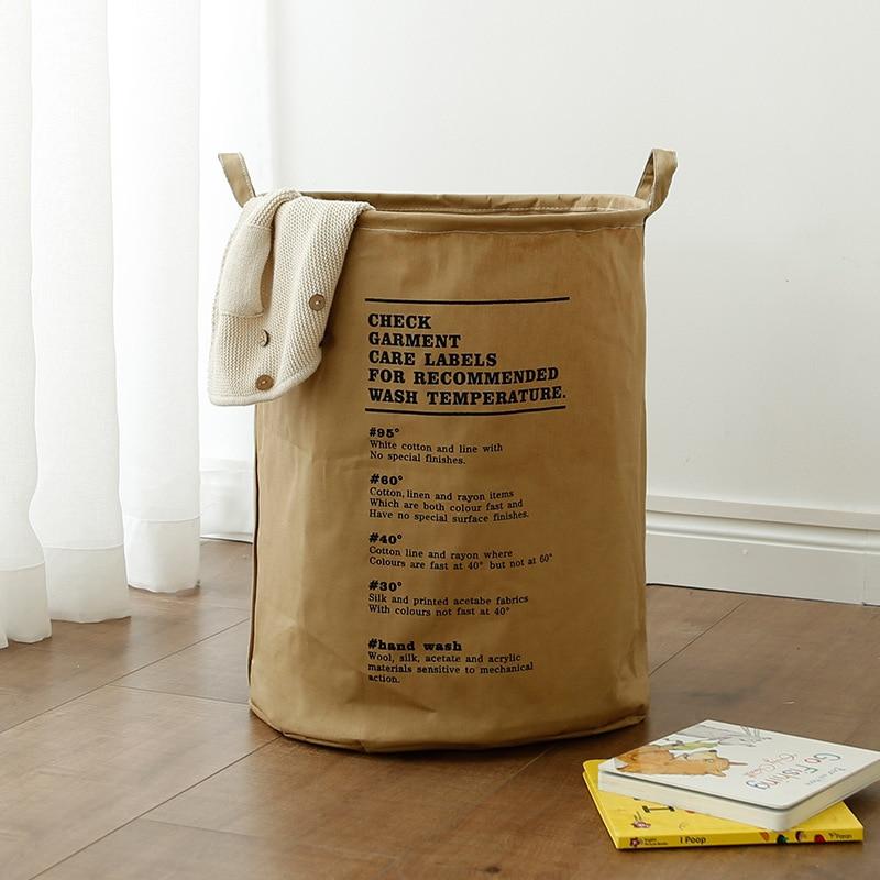 New Waterproof Laundry Hamper Clothes Storage Baskets Home Barrel Bags Kids Toy Organizer Basket