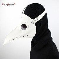 Uniqstore доктор чума маска белый PU кожа птица маска Хеллоуин Выходные туфли на выпускной бал для отдыха и вечеринок Поставки Косплэй Опора Цвет...