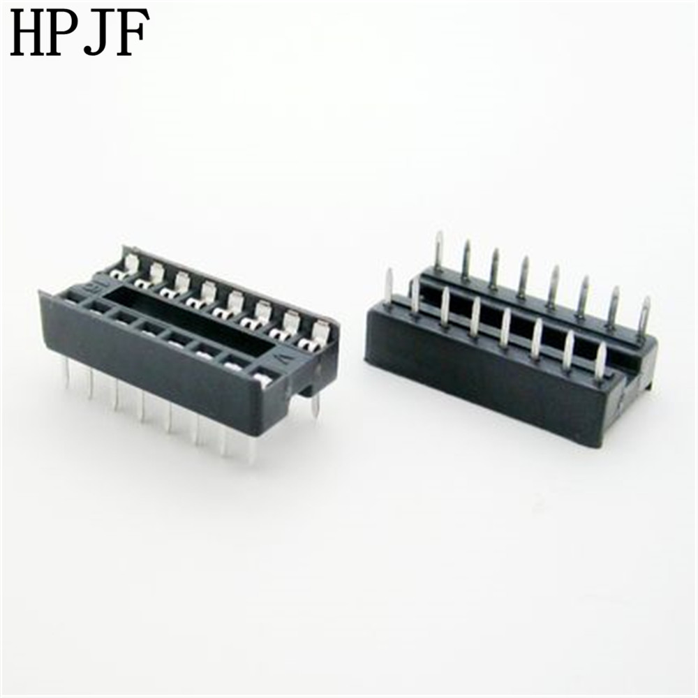 30PCS/Lot 16 Pin DIP Square Hole IC Sockets Adapter 16Pin Pitch 2.54mm Connector